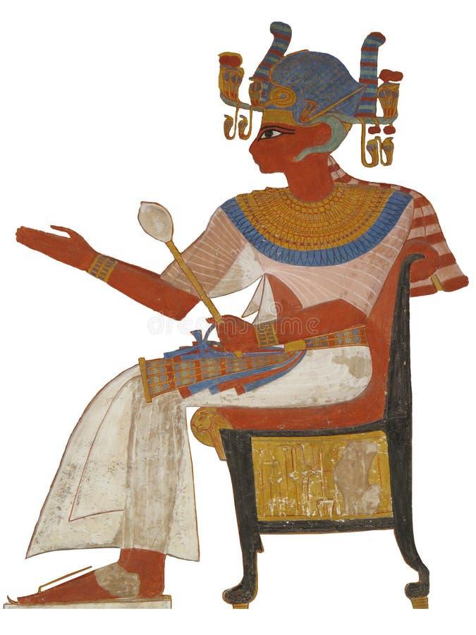 Старый египетский иероглиф фараона стоковое изображение rf