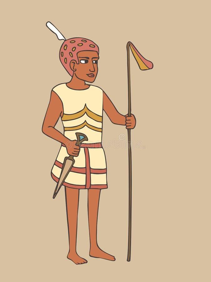 Старый египетский мультфильм командира войны бесплатная иллюстрация