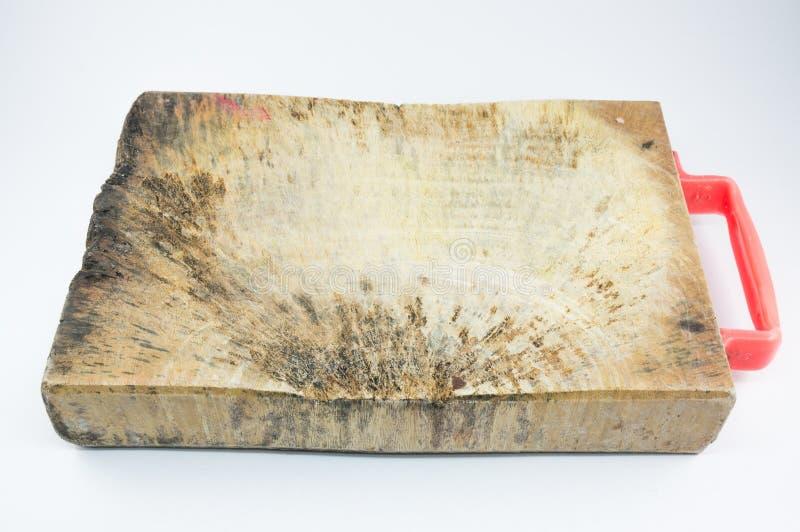 Старый деревянный изолированный прерывать стоковые изображения