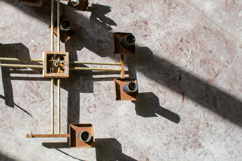Старый держатель лампы стоковое изображение