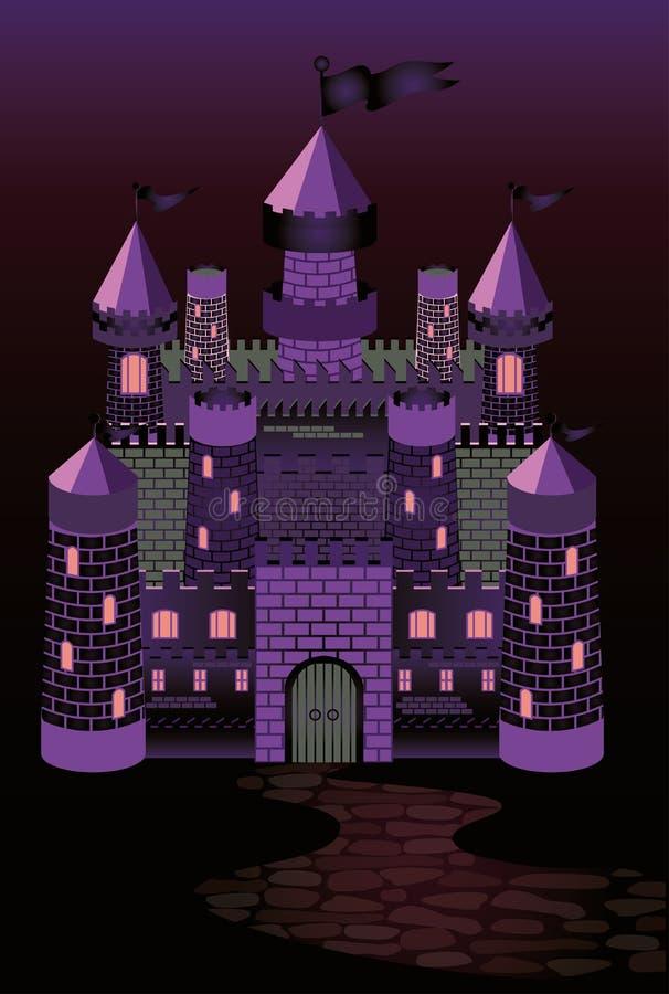 замок фиолетовой колдуньи рисунок