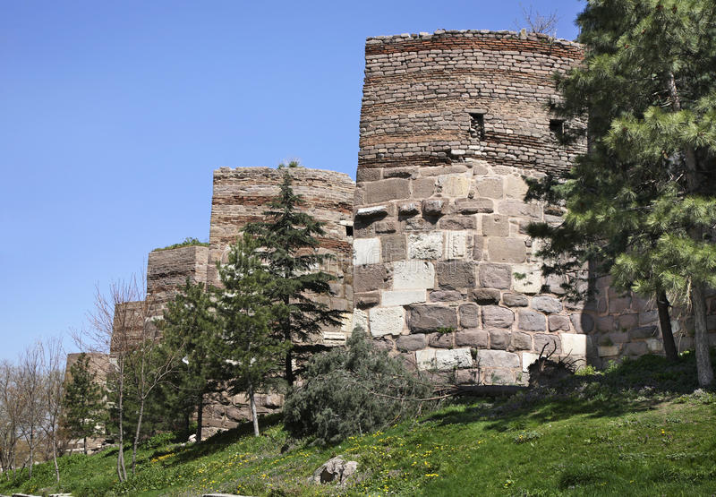 Старый замок в Анкаре индюк стоковое фото