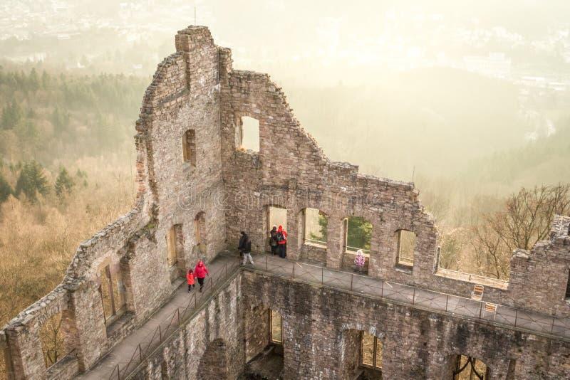 Старый замок в Баден-Бадене стоковые фото