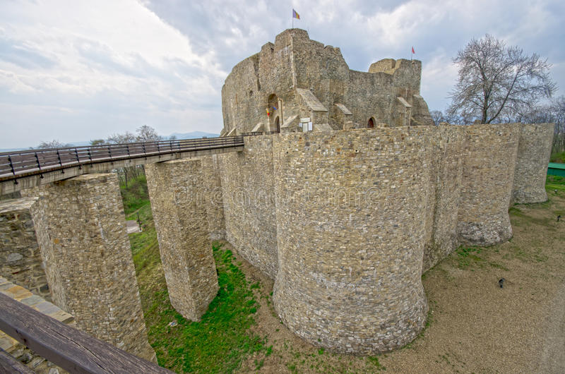Старый замок в Молдове стоковая фотография rf