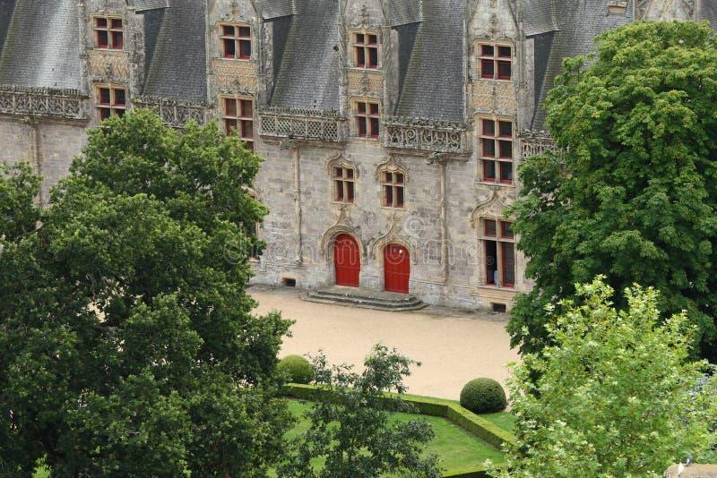 Старый замок в французе Бретани стоковое изображение rf