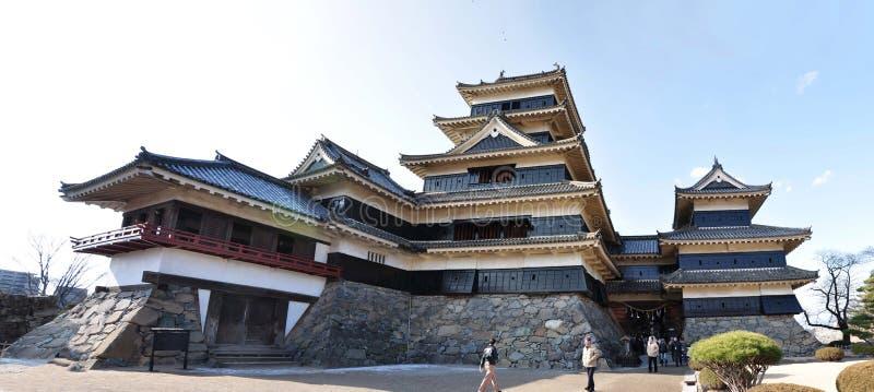 Старый замок в Японии стоковая фотография