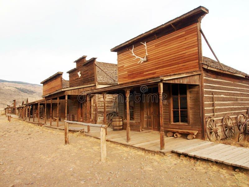 Старый западный, старый городок следа, Коди, Вайоминг, Соединенные Штаты стоковые изображения rf