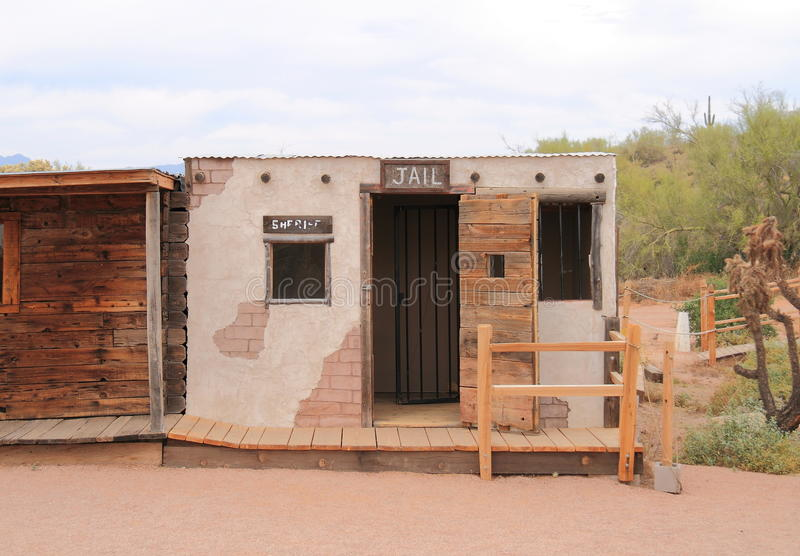 Старый запад: Тюрьма стоковое изображение rf