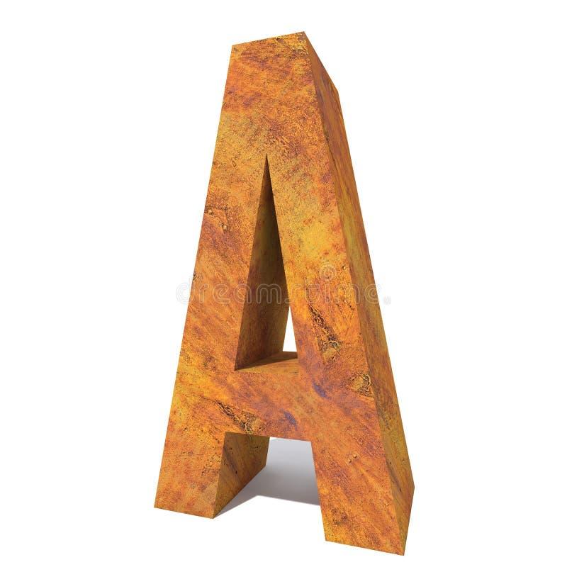 Старый заржаветый тип шрифта металла, железная сталелитейная промышленность иллюстрация штока