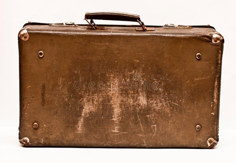 Старый затрапезный чемодан стоковая фотография rf
