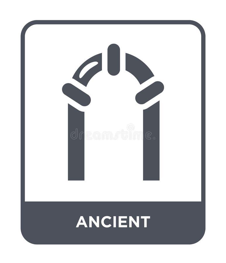 старый значок в ультрамодном стиле дизайна Старый значок изолированный на белой предпосылке символ старого значка вектора простой иллюстрация вектора