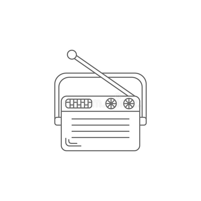 Старый значок радио Простая иллюстрация элемента Старый шаблон дизайна символа радио Смогите быть использовано для сети и черни стоковая фотография rf