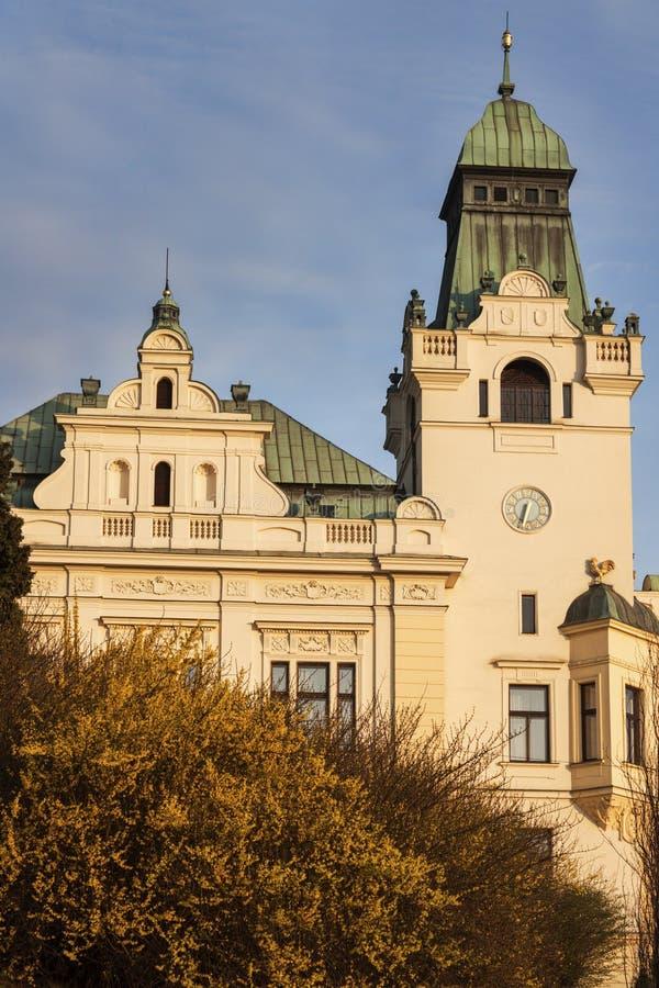 Старый здание муниципалитет в Остраве стоковая фотография