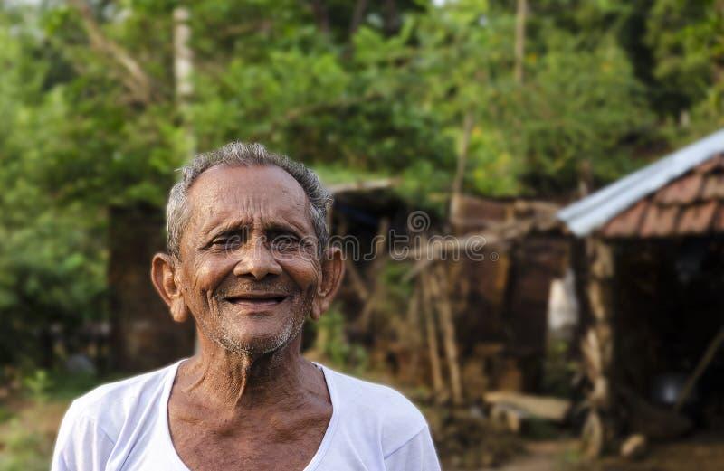 Старый индийский человек стоковая фотография