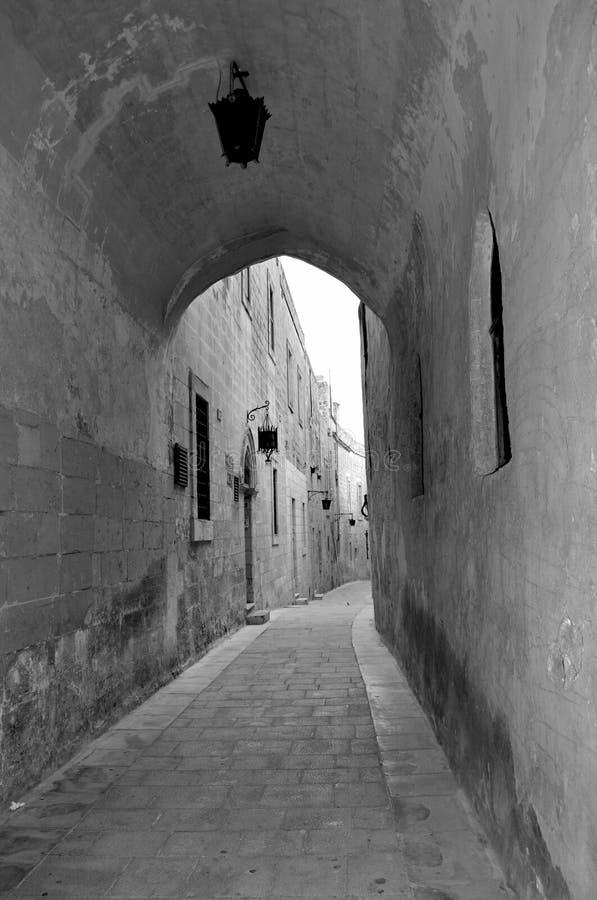 Старый исторический городок Mdina в Мальте стоковые фотографии rf