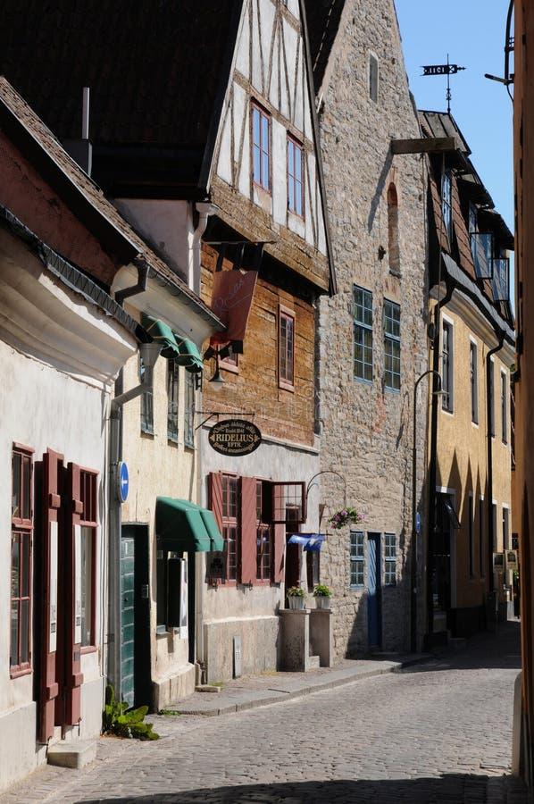 Старый и живописный город visby стоковые фото