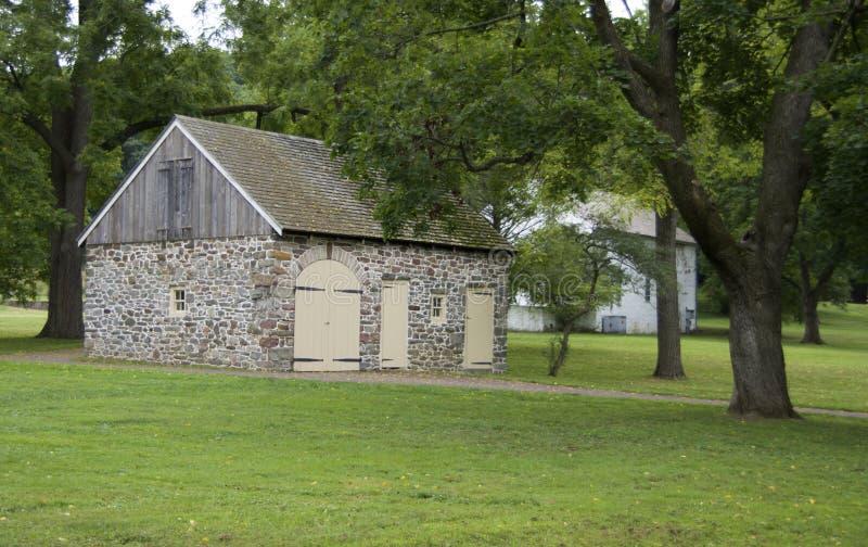 Старый каменный амбар стоковое фото rf