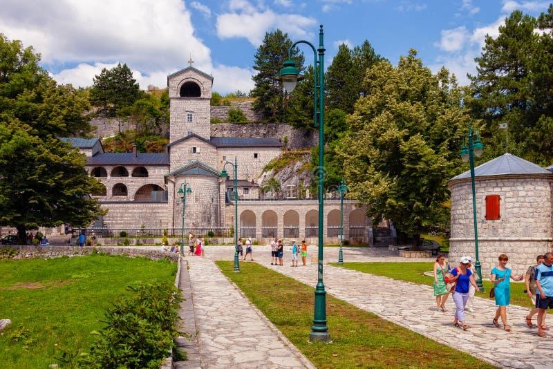 Старый каменный монастырь в Cetinje, Черногории стоковое изображение rf