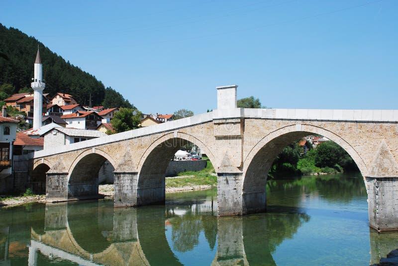 Старый каменный мост в Konjic стоковые изображения