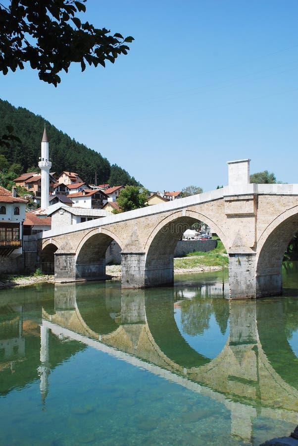 Старый каменный мост в Konjic стоковая фотография