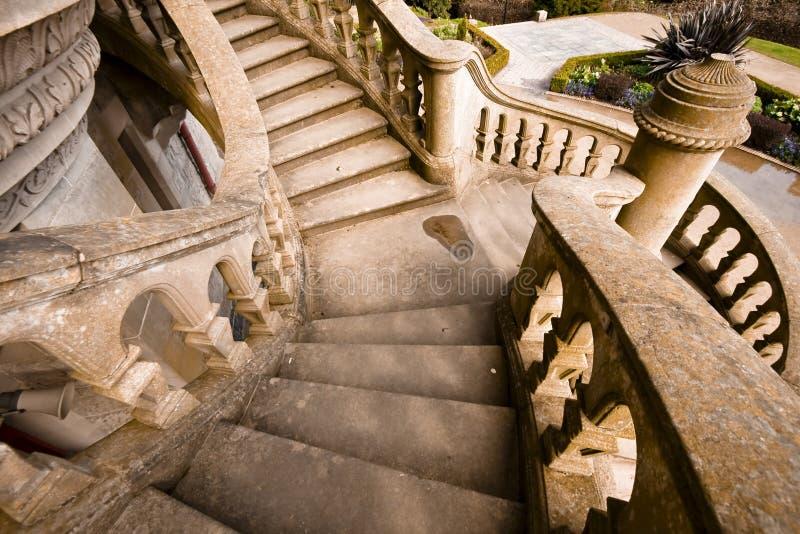 старый камень лестниц стоковая фотография rf