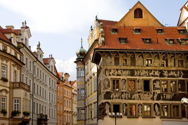 старый квадратный городок стоковые изображения