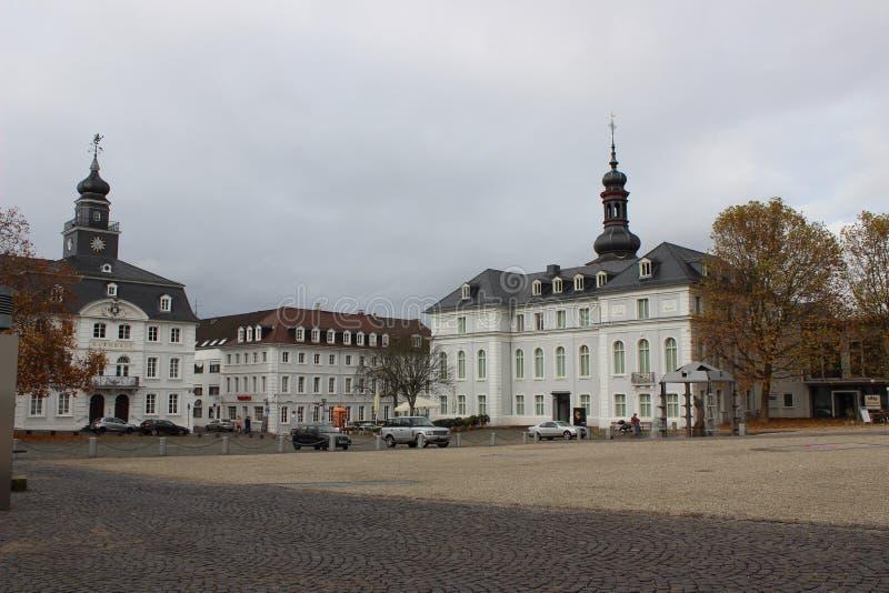 Старый квадрат в Saarbrucken стоковые изображения rf