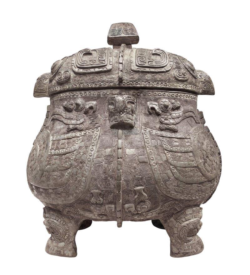 Старый китайский изолированный бак. стоковое фото rf