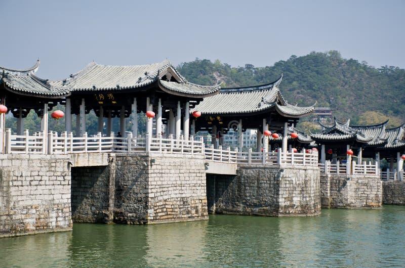 Старый китайский мост стоковое изображение