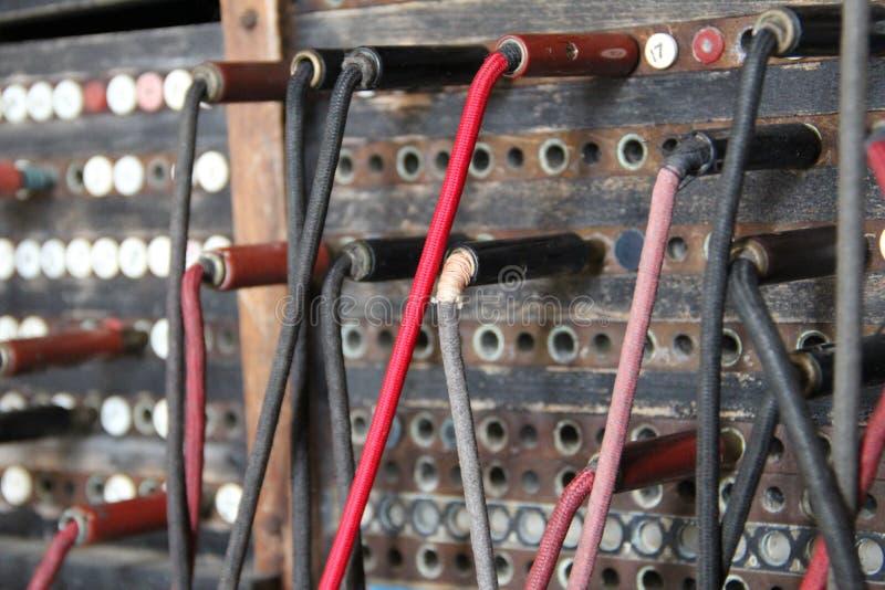 Старый коммутатор телефона стоковое изображение