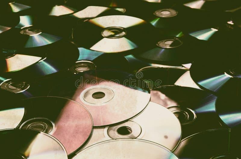 старый компакт-диск компактного диска стоковые фото