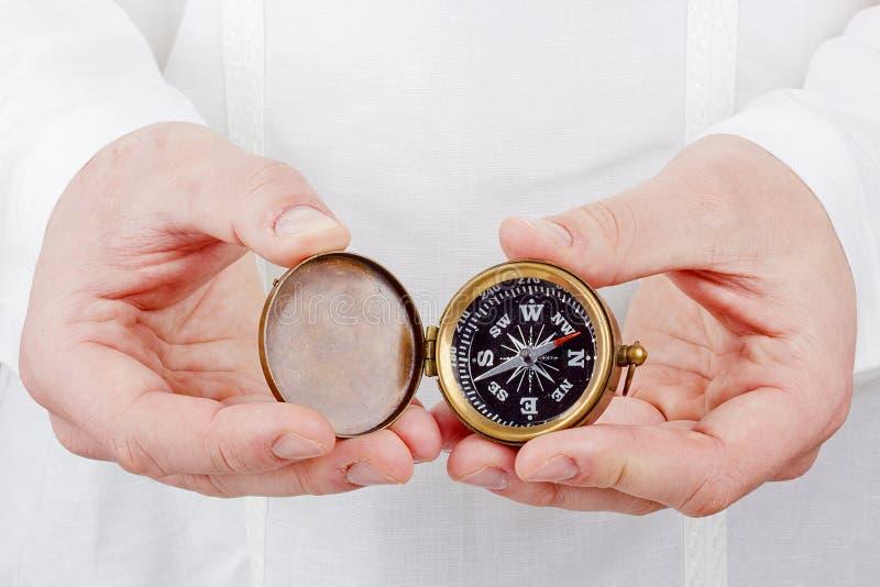Старый компас стоковые фото