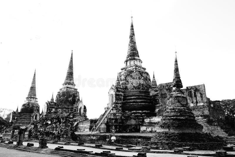 Старый комплекс буддийского виска года сбора винограда Stupas стоковая фотография rf