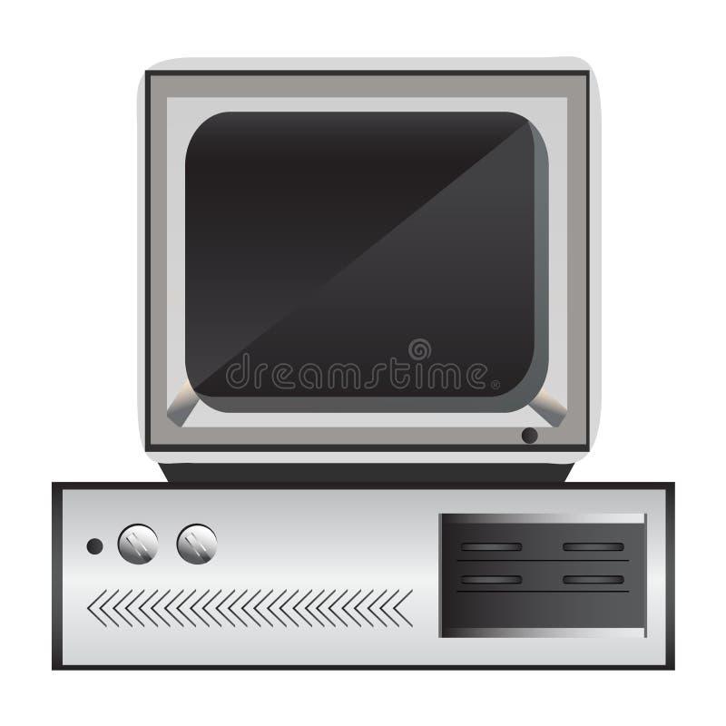 Старый компьютер иллюстрация штока