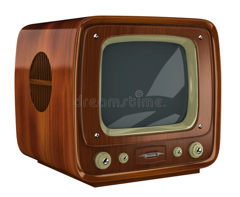старый комплект tv иллюстрация вектора