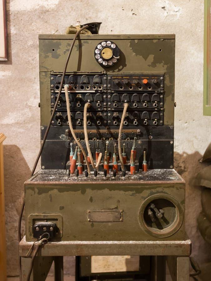 старый конец коммутатора телефона вверх стоковая фотография rf