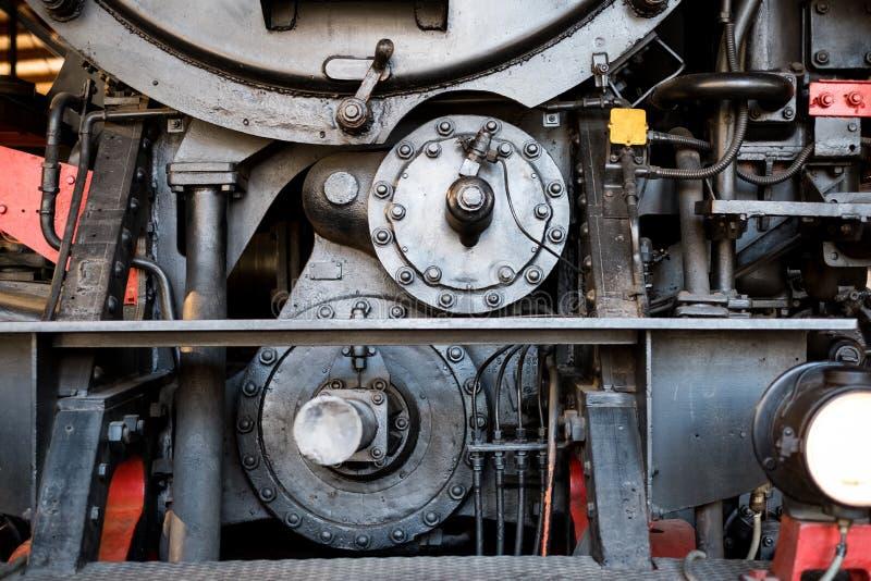Старый конспект машинного оборудования - передняя деталь локомотива пара стоковая фотография rf