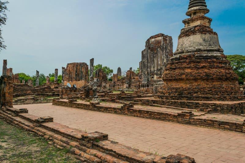 Старый королевский дворец в Ayutthaya Таиланде стоковая фотография