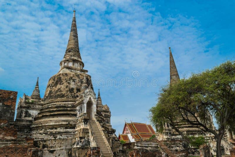 Старый королевский дворец в Ayutthaya Таиланде стоковое изображение