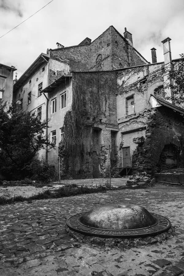 Старый красивый город стоковое фото rf