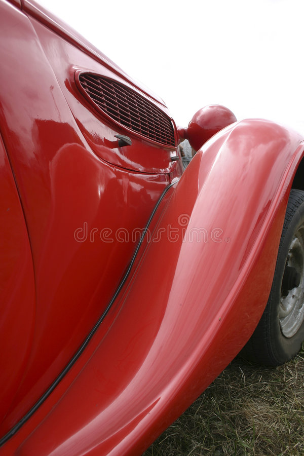 старый красный цвет car2 стоковое изображение
