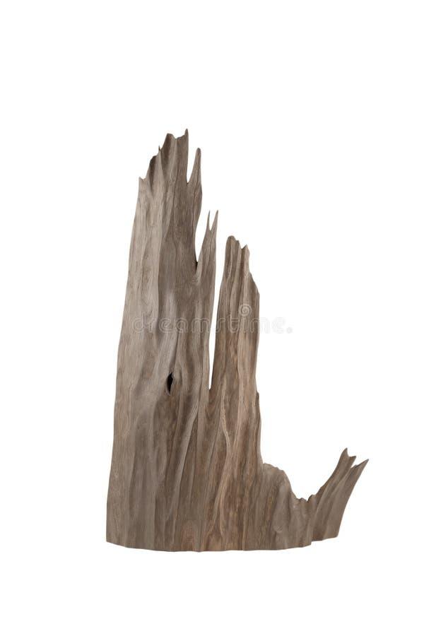 Старый кусок дерева на белой предпосылке, деревянная текстура бесплатная иллюстрация
