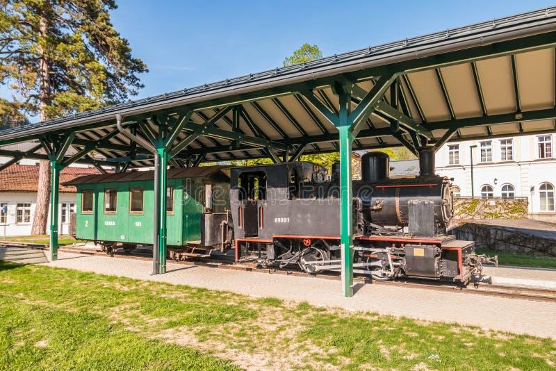 Старый локомотив пара бывшего австрийца Salzkammergut-Lokalbahn SKGLB, плохого Ischl, Австрии стоковое изображение