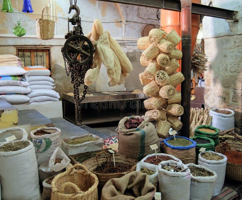 Старый магазин специй в Назарете стоковое фото