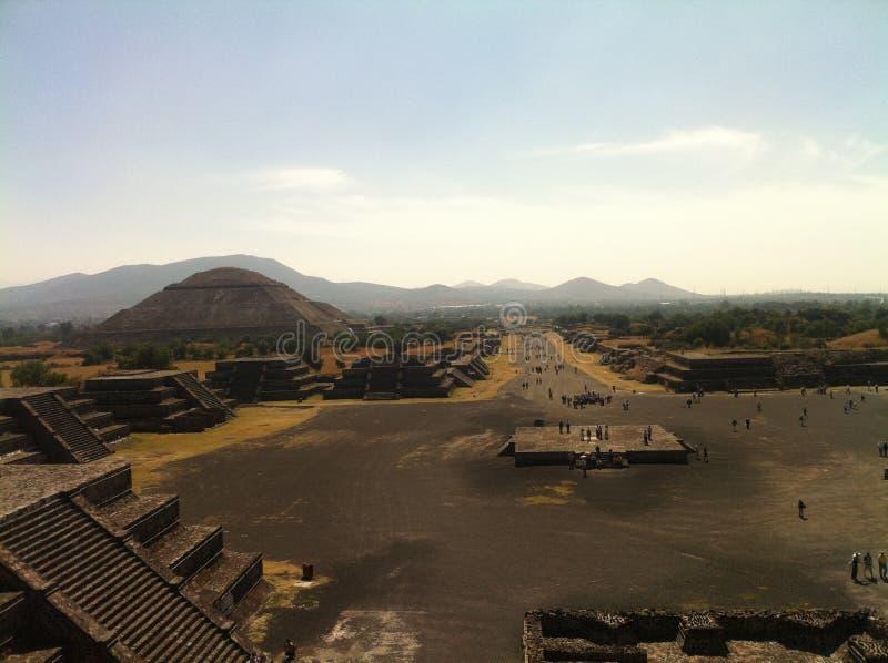 Старый мексиканский город Teotihuacan (2) стоковая фотография
