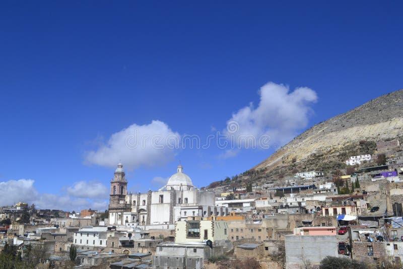 Старый мексиканский ландшафт городка старое arquitecture стоковое изображение