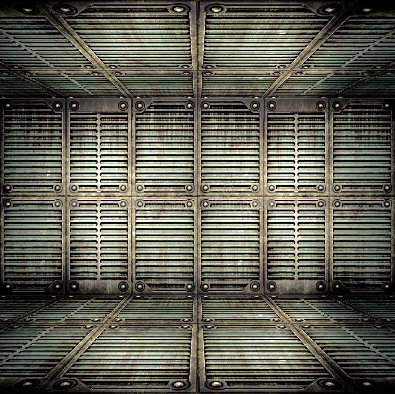Старый металлический интерьер бесплатная иллюстрация