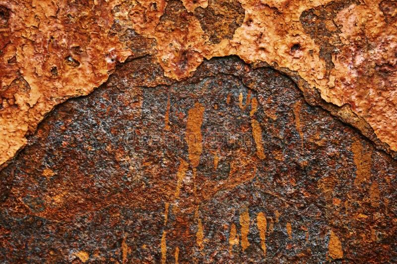 Старый металлический лист утюга с предпосылкой конспекта ржавчины стоковое изображение rf