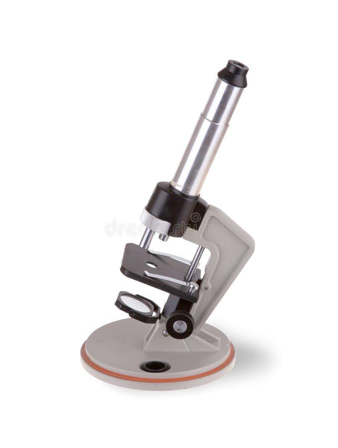 Старый микроскоп  стоковое изображение