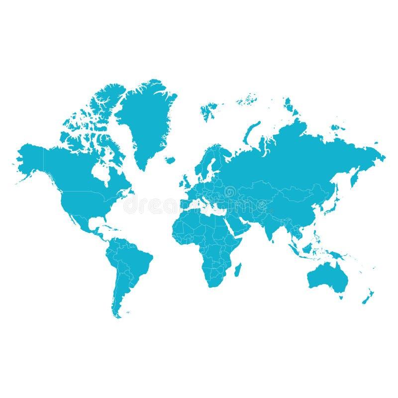 Старый Мир карты иллюстрации также вектор иллюстрации притяжки corel Иллюстрация вектора, плоский стиль иллюстрация штока